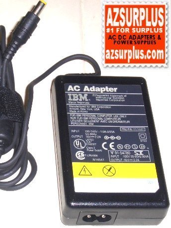 IBM AA19650 AC ADAPTER 16VDC 2.2A CLASS 2 POWER SUPPLY 85G6709