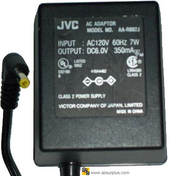 JVC AA-R602J AC ADAPTER DC 6V 350MA Charger Linear power supply