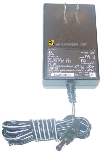 LOGITECH ADP-18LB B AC ADAPTER 24VDC 0.75A USED -(+) 2x5.5mm ROU