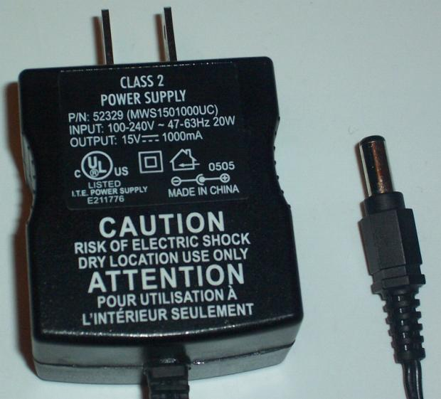 MWS1501000UC AC DC ADAPTER 15V 1A POWER SUPPLY