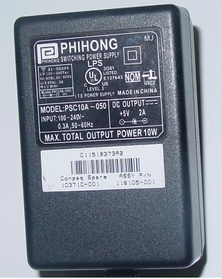 PHIHONG PSC10A - 50 AC DC ADAPTER +5V 2A 10W