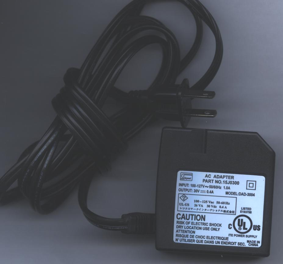 SKYNET 15J0300 DAD-3004 AC ADAPTER 30Vdc 0.4A INKJET PRINTER