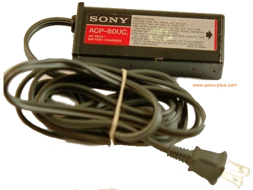 SONY ACP-80UC AC PACK 8.5Vdc 1A VTR 1.6A BATT 3x contact Used PO