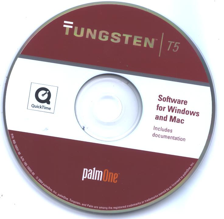 PALM ONE TUNGSTEN T5 INSTALLATION Driver CD INCLUDES ADDITIONAL