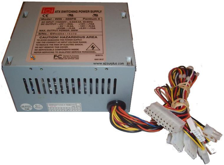 WIN-300PS PENTIUM 4 ATX SWITCHING POWER SUPPLY 300W WIN-300PS ATX ...